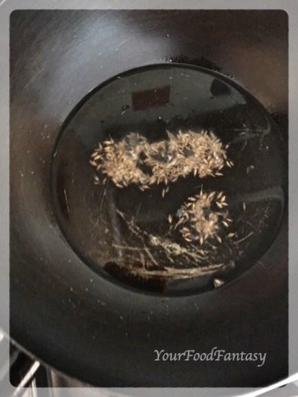 Frying Cumin   Drumstick Masala   YourFoodFantasy.com