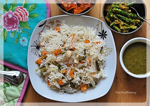 Veg Pulao Recipe - Pilaf Rice | Your Food Fantasy