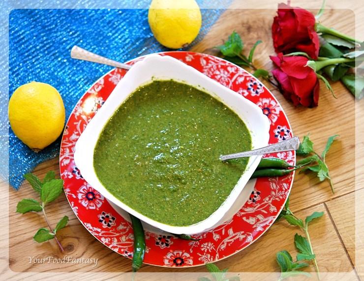 Mint Coriander Green Chutney Recipe