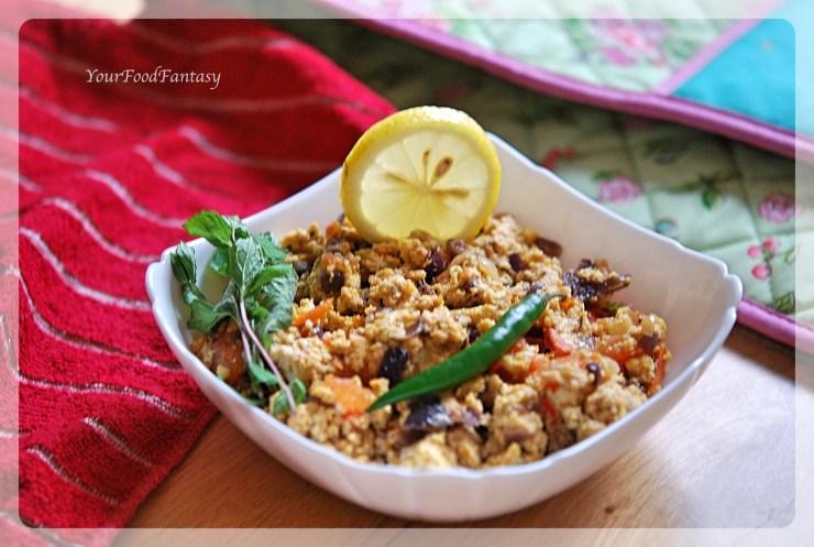 Paneer Bhurji Recipe | YourFoodFantasy.com by Menenu Gupta