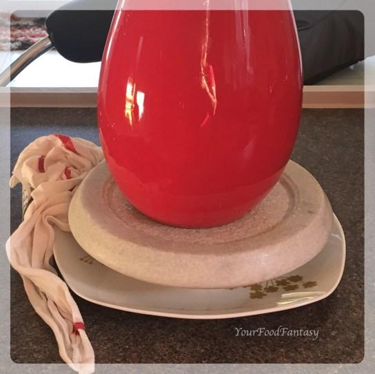Pressing Paneer to set in Shape | Paneer Making