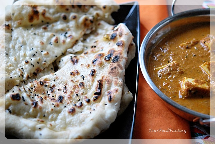 Indian Butter Naan Recipe | YourFoodFantasy.com