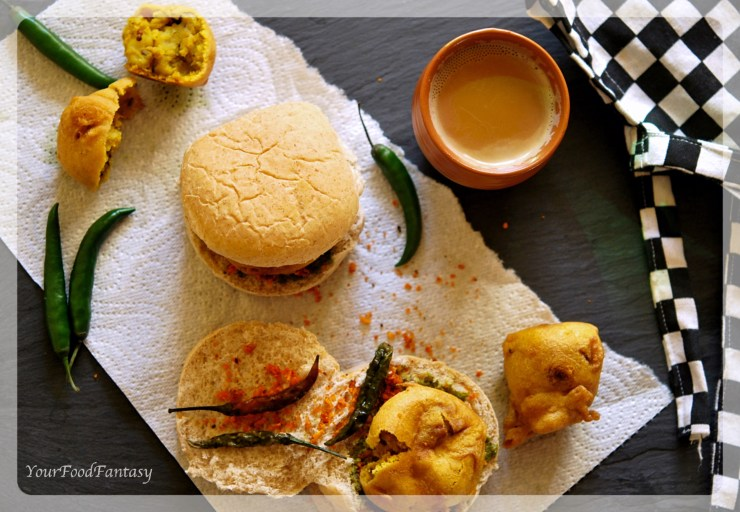 Mumbai Style Vada Pav Recipe | Your Food Fantasy