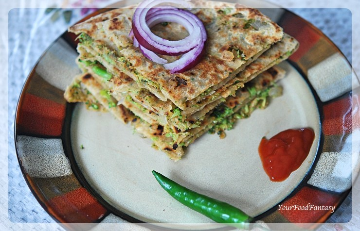Broccoli Paratha | Your Food Fantasy
