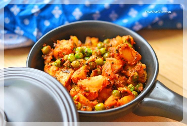 Dry Potato Peas Curry | YourFoodFantasy.com
