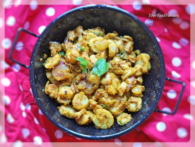 Masala Arbi Recipe | YourFoodFantasy.com by Meenu Gupta