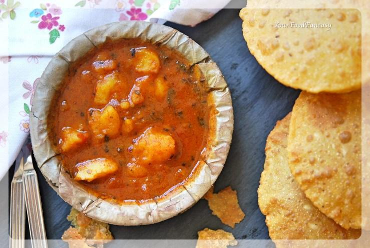 Aalo Tamatar Sabzi | Potato Tomato Gravy Curry | Your Food Fantasy