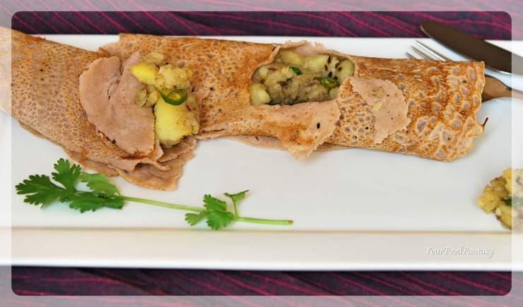 Buckwheat Flour Pancake | Kuttu Ka Dosa Recipe | Navratri Special Food