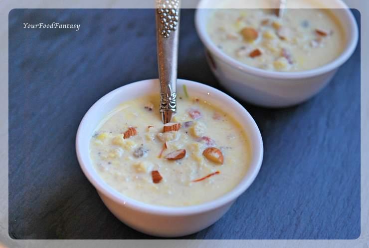 Dry Fruit Kheer | Makhane Ke Kheer | Lotus Seeds Foxnut Seeds Pudding | YourFoodFantasy.com