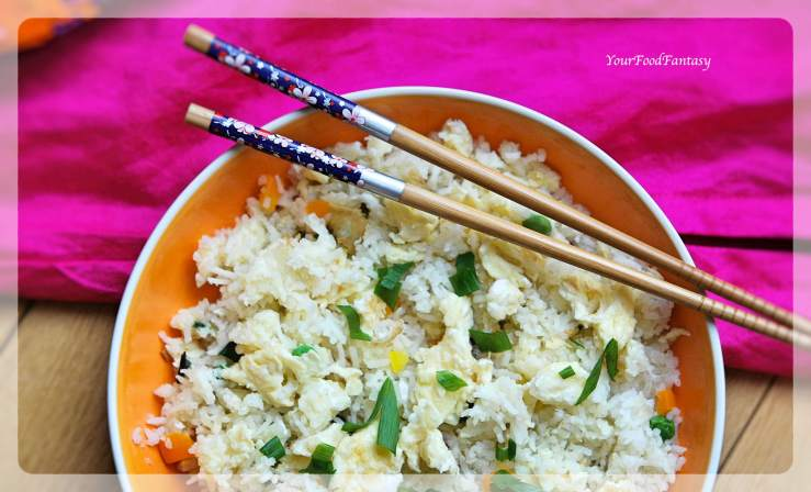 Easy Egg Fried Rice Recipe   Your Food Fantasy