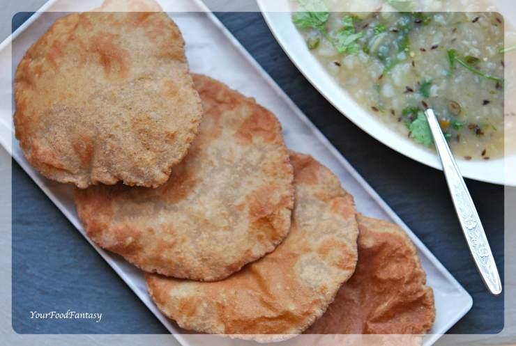 Kuttu Ki Poori Recipe   Buckwheat Flour Puri   Your Food Fantasy