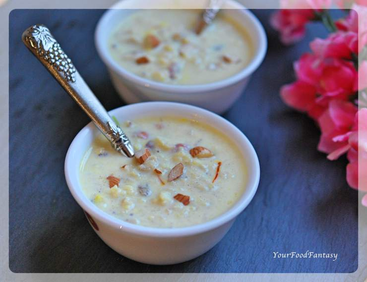 Makhane Ke Kheer | Lotus Seeds Foxnut Seeds Pudding | Dry Fruit Kheer | YourFoodFantasy.com by Meenu Gupta