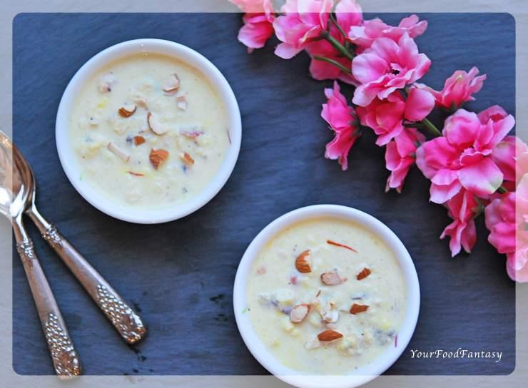 Makhane Ke Kheer | Lotus Seeds Foxnut Seeds Pudding | Dry Fruit Kheer