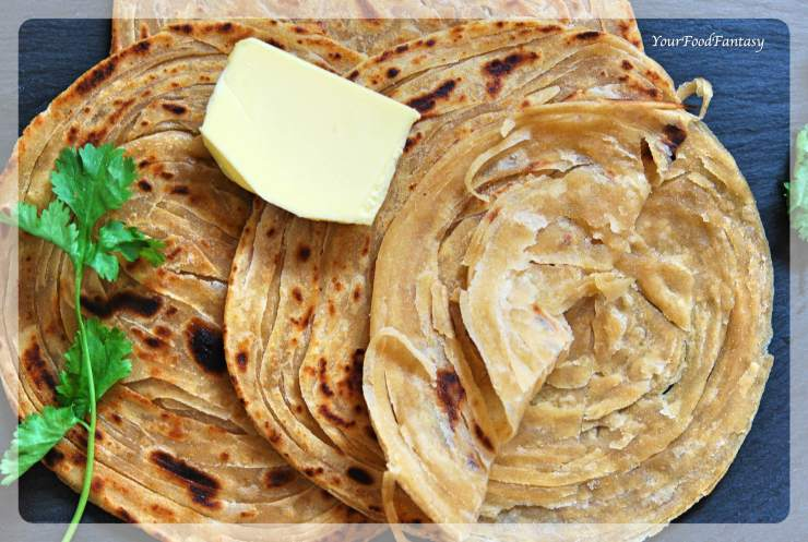 Layered Laccha Paratha | Malabar Paratha Recipe | Your Food Fantasy by Meenu Gupta