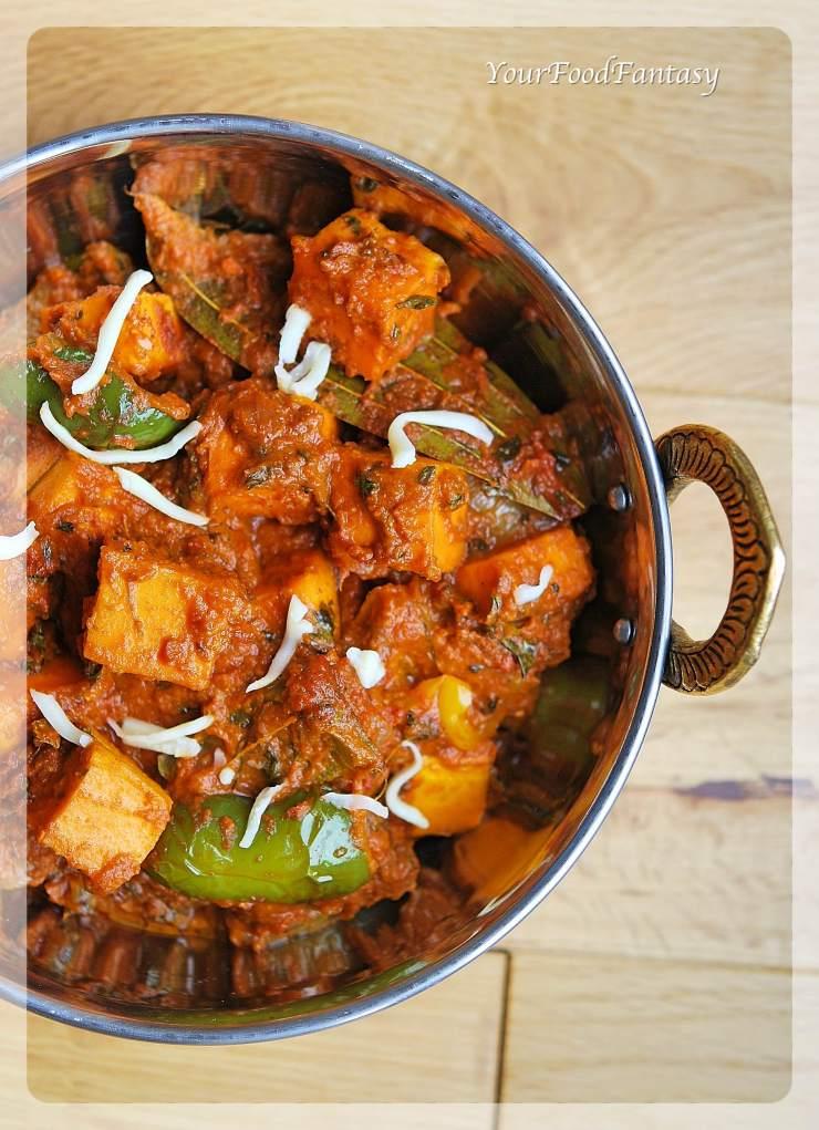Restaurant Style Kadai Paneer Recipe | Your Food Fantasy