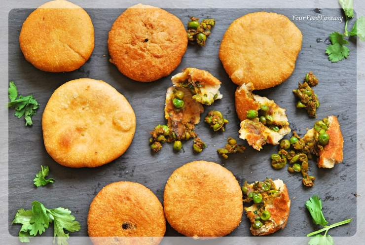 Matar Ke Kachori | Green Pea Stuffed Fried bread | Your Food Fantasy