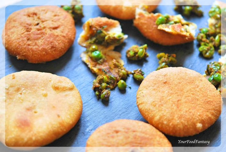 Matar Ke Kachori Recipe | Green Pea Stuffed Fried Pastry | Your Food Fantasy