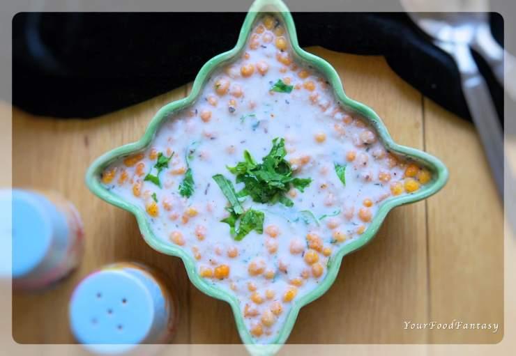 Boondi Raita - Quick & Easy Yoghurt Dip Recipe   YourFoodFantasy.com by Meenu Gupta