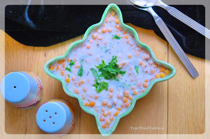 Boondi Raita - Quick and Easy Yoghurt Dip Recipe | YourFoodFantasy.com