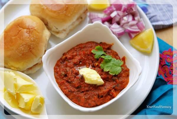 Mumbai Pav Bhaji Recipe | Your Food Fantasy
