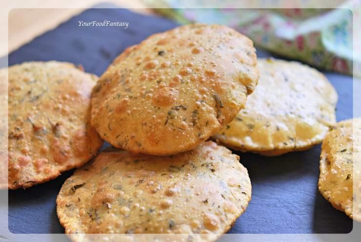 Methi Puri Recipe - Puri with Fenugreek Leaves | Your Food Fantasy