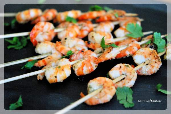 Prawn Starters | Prawn Skewers Recipe | YourFoodFantasy.com