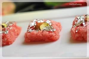 Rose Coconut Burfi Recipe | Indian Sweet Recipe | Your Food Fantasy by Meenu Gupta