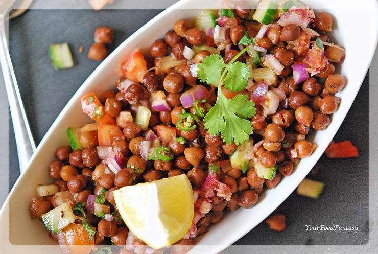 Black Chana Chaat - Black Chickpea Chaat | YourFoodFantasy.com