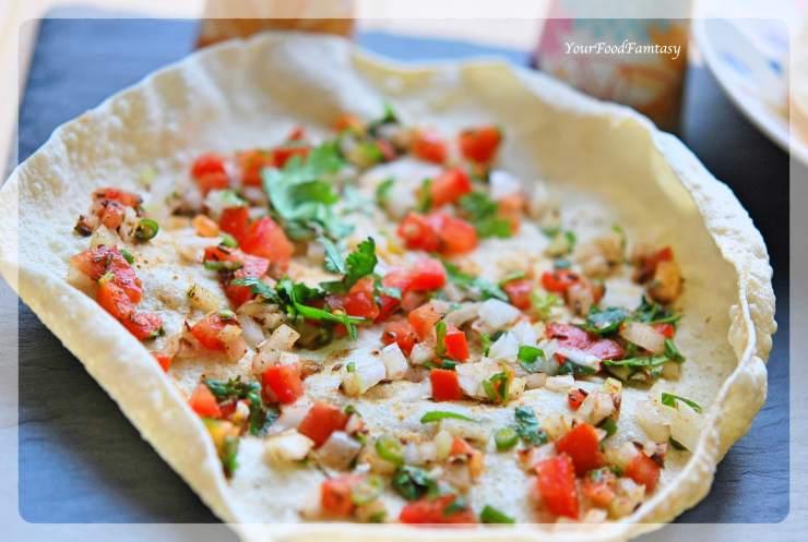 Masala Papad- Poppadam Recipe | Your Food Fantasy
