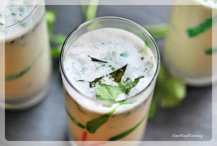 Spiced Butter Milk - Masala Chaas Recipe | YourFoodFantasy.com
