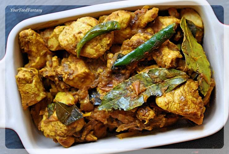 South Indian Style Dry Chicken | Chicken Recipes | Your Food Fantasy