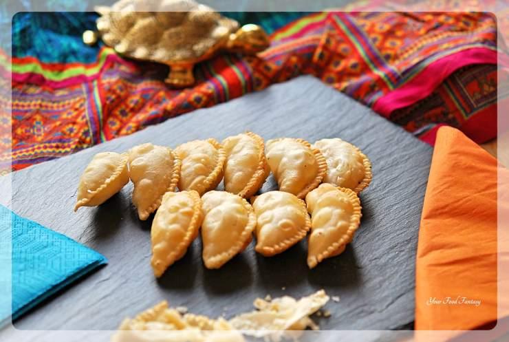 Gujiya Recipe - Mava Gujiya   Your Food Fantasy