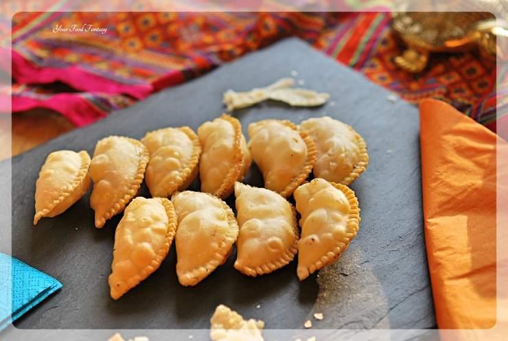 Gujiya Recipe - Mava Gujiya | YourFoodFantasy.com