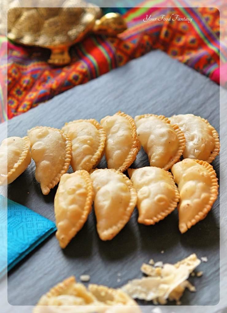 Home made Gujiya Recipe - Khoya Gujiya | YourFoodFantasy.com