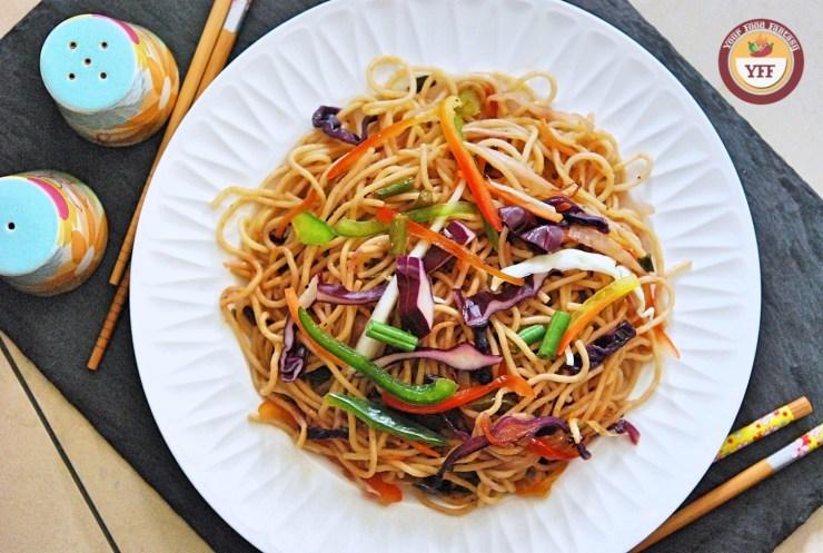 Vegetable Hakka Noodles Recipe | Indo Chinese Cuisine