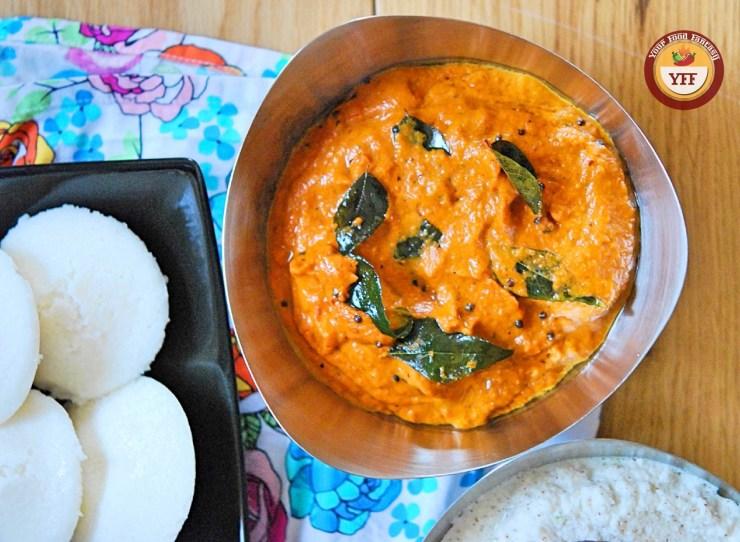Tomato Onion Chutney - South Indian Style   YourFoodFantasy.com