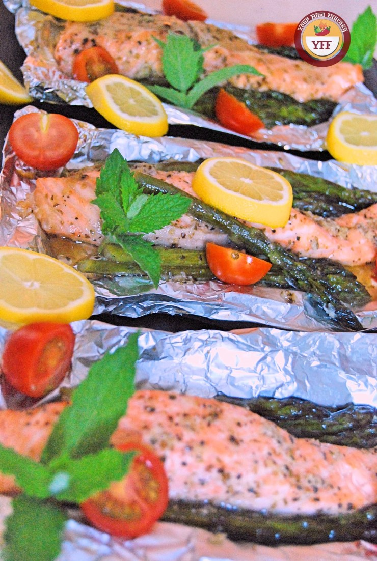 One Pot Asparagus Salmon Foil Bake | Your Food Fantasy