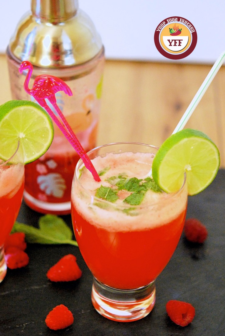 Raspberry Mojito Mocktail Recipe | YourFoodFantasy.com
