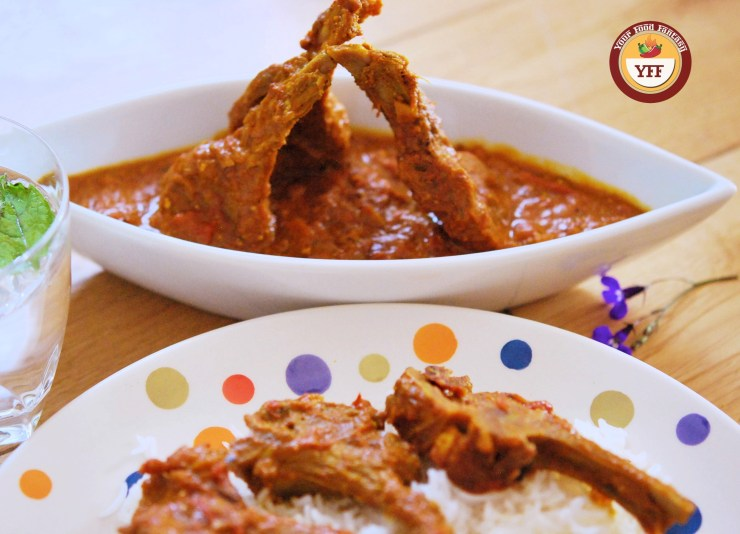 Indian Curry of Lamb Chops | Lamb Recipes | Your Food Fantasy