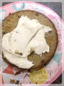 Applying Cream on Carrot Cake | Carrot Cake Recipe