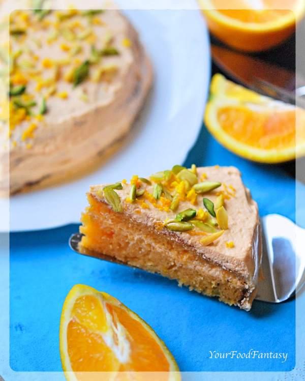 Orange Pistachio Cake Homemade Recipe | Your Food Fantasy