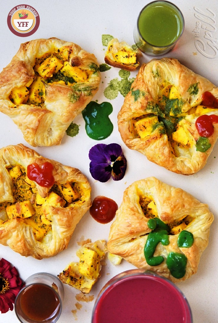 Paneer Tikka Pockets - Paneer Tikka Parcels | Paneer Recipes - YourFoodFantasy.com