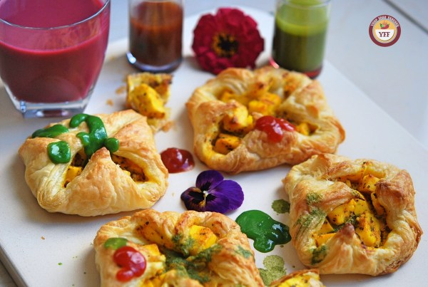 Paneer Tikka Pockets | Paneer Tikka Parcels | Paneer Recipes | YourFoodFantasy.com
