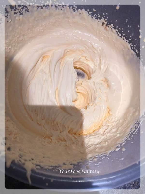 Whipped Cream for Orange Pistachio Cake