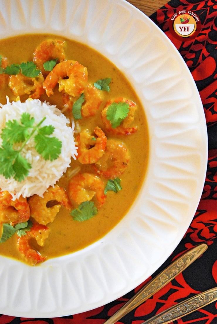Prawn Malai Curry Recipe | YourFoodFantasy.com