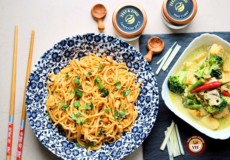 Tandoori Noodles Recipe and Green Thai Curry Recipe | Your Food Fantasy