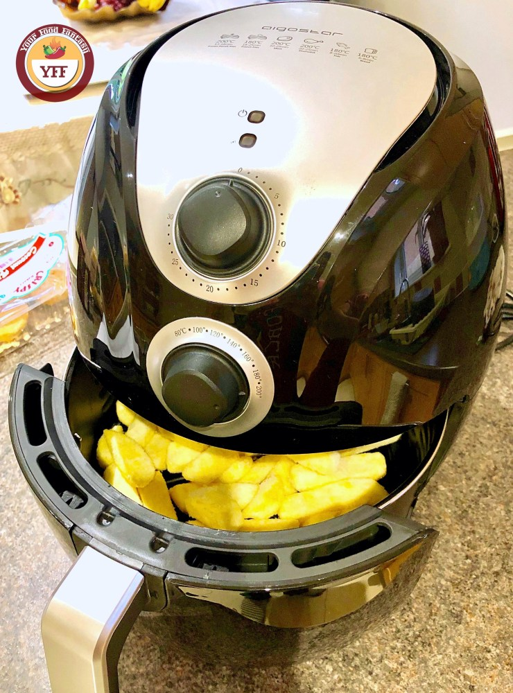 Fries being made in Air Fryer | YourFoodFantasy.com