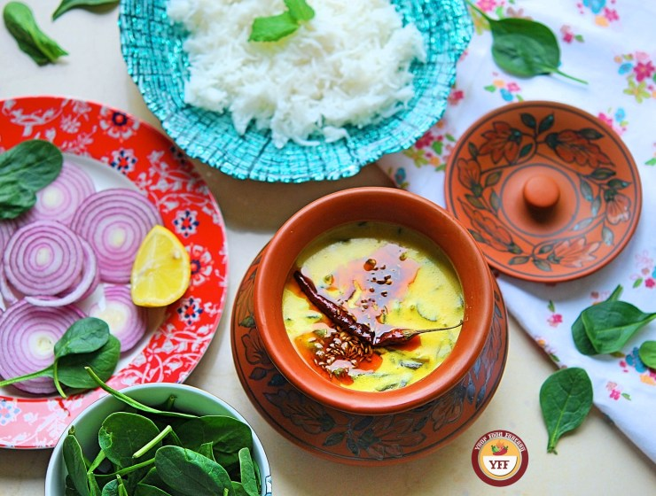 Spinach Recipes -Palak Kadhi Recipe | Your Food Fantasy