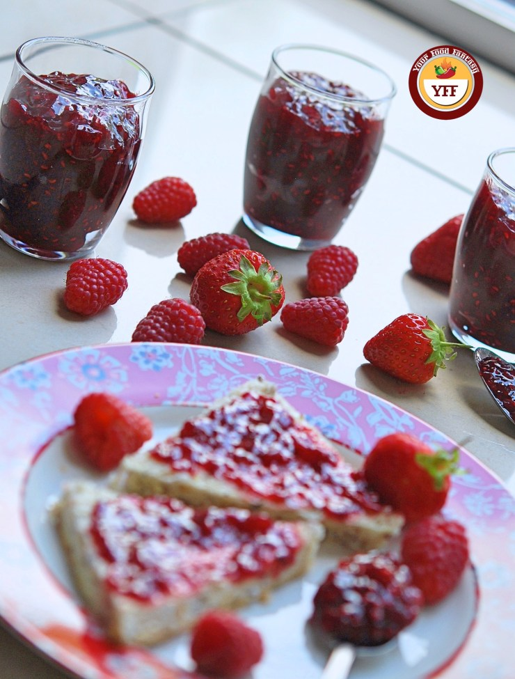 Easy Homemade Strawberry Raspberry Jam Recipe by YourFoodFantasy.com