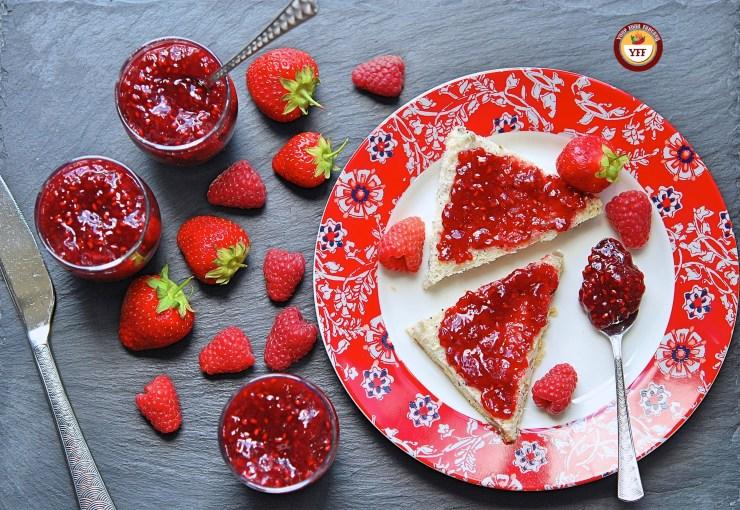 Homemade Strawberry Raspberry Jam Recipe | YourFoodFantasy.com